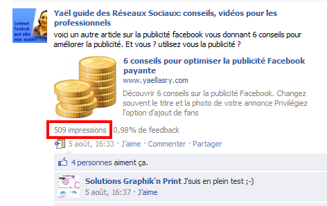 impression statistique facebook