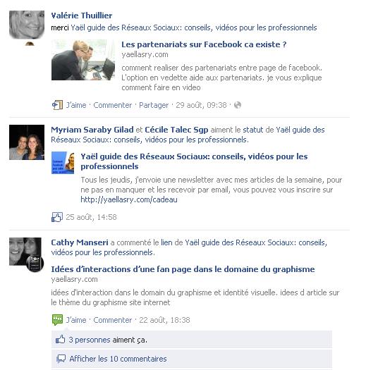 activite ami facebook