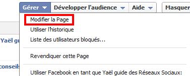 Changer Nom Fan Page Facebook
