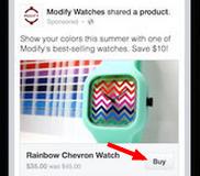 bouton achat facebook